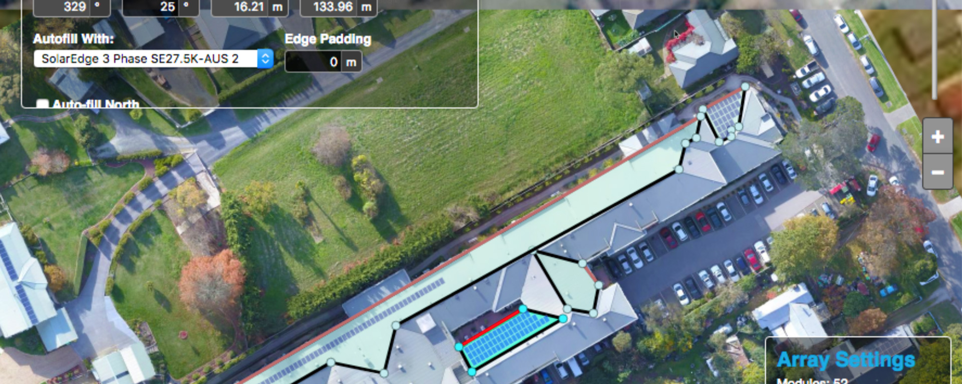 Solar design with drone roof imagery