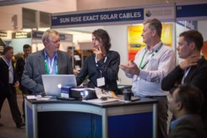 Laurie Kane demos Australian SolarPlus at Solar Council Conference